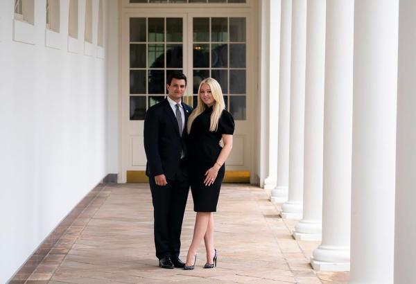 ابنة ترامب تستغل آخر ليلة له في البيت الأبيض وتعلن خطوبتها من شاب عربي الأصل
