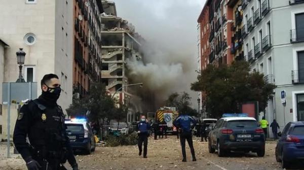 قتلى وعدد من الجرحى جراء انفجار عنيف في مبنى وسط مدريد(فيديو)