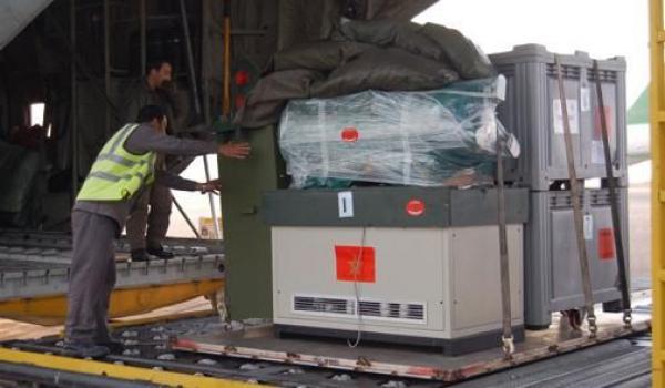3 طائرات تنقل مساعدات مغربية إلى قطاع غزة