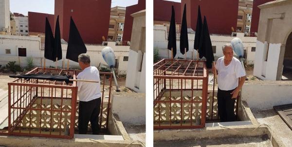 عائلة الزفزافي ترفع الأعلام السوداء على سطح البيت يوم عيد الأضحى