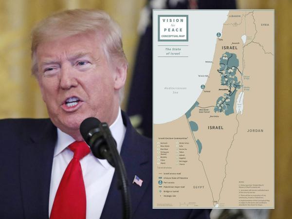 """التفاصيل الكاملة لـ""""صفقة القرن"""" المشؤومة التي أعلن عنها """"ترامب"""" رسميا ودعمتها السعودية والإمارات ومصر"""