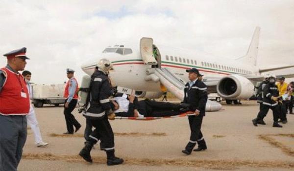 مطار محمد الخامس بالدار البيضاء..إجراء تمرين في مجال أمن وسلامة الطيران المدني