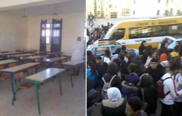 """عصيان وإضراب عن الدراسة بعدد من المدن المغربية بسبب """"التوقيت الصيفي"""" والتلاميذ يهددون بـ""""سنة بيضاء """"(فيديوهات وصور)"""
