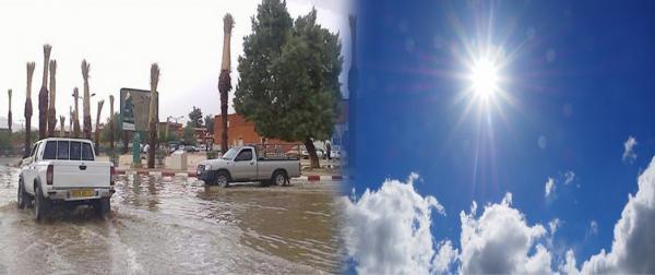 سبحان الله...زخات مطرية رعدية وحرارة تفوق 47 درجة بهذه المناطق المغربية
