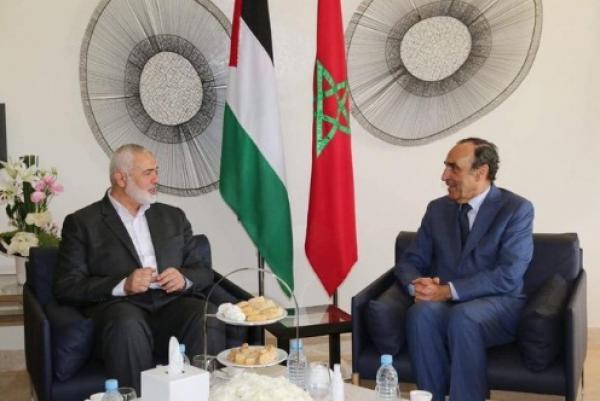 """رئيس مجلس النواب المغربي يستقبل """"إسماعيل هنية"""" ويجريان مباحثات رسمية"""