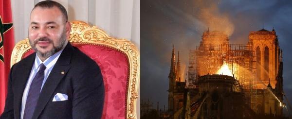 هذا هو رد رئيس أساقفة باريس على المساهمة المالية للملك لإعادة بناء كاتيدرائية نوتردام