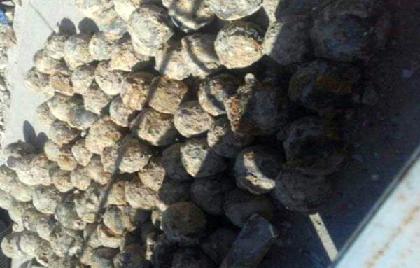 عمال يعثرون على أزيد من 120 قذيفة تحت ساحة بآسفي