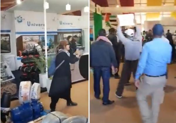 """مواطنون يحتجون على وجود شركة """"إسرائيلية"""" في المعرض الدولي للتمور ب"""" ارفود"""""""