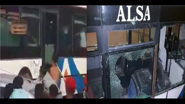 بالفيديو: تخريب حافلة بأكادير بسبب شجار بين مصطافين أغلبهم قاصرين