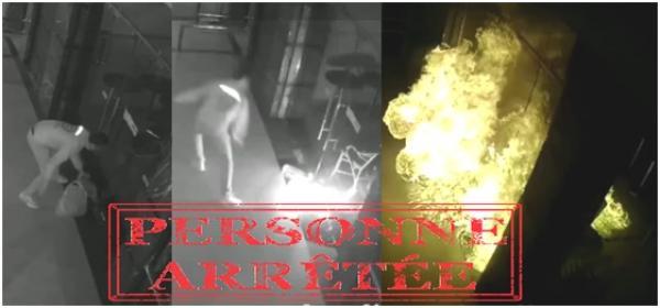 الأمن يعتقل شابا أضرم النار عمدا في مقهى والسبب غريب!