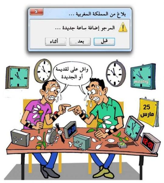 مرة أخرى...الحكومة تقرر اعتماد الساعة الاضافية يوم 25 مارس