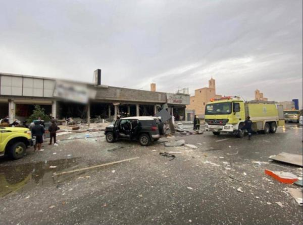 وفاة و6 إصابات في انفجار جراء تسرب غاز في مطعم بالسعودية