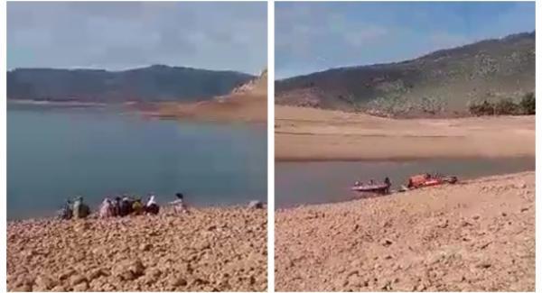 بالفيديو: لحظات محزنة لزوجة الغريق الثلاثيني وأسرته وهم يرابطون ببحيرة بين الويدان وينتظرون استخراج الجثة