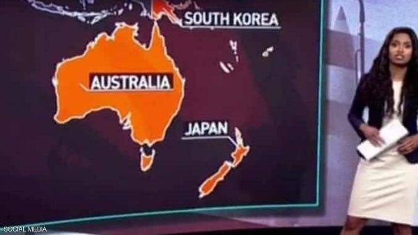 قناة روسية تعرض أغرب خريطة في العالم .. و تعتذر عن الخطأ