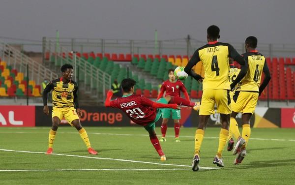 المنتخب المغربي يتعادل مع نظيره الغاني في كأس إفريقيا موريتانيا 2021