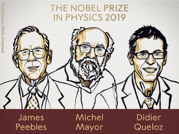 جائزة نوبل في الفيزياء 2019 لكندي-أمريكي وسويسريين