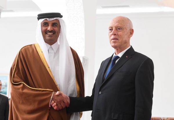 أمير قطر يقوم بزيارة رسمية لتونس