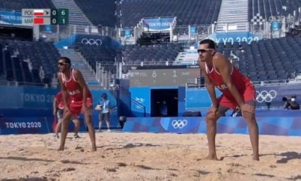 أولمبياد طوكيو: إقصاء المنتخب المغربي للكرة الطائرة الشاطئية في الدور الأول