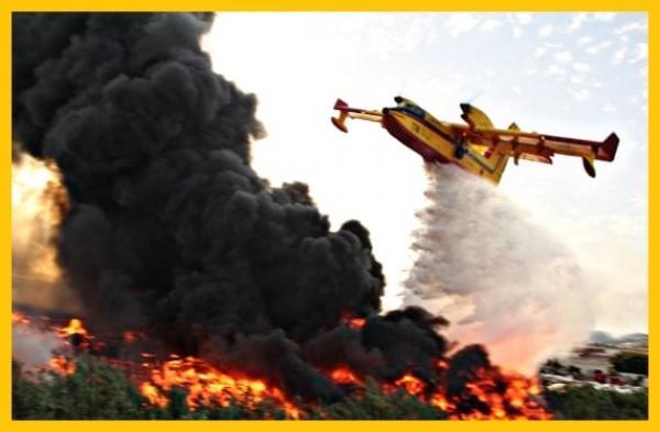 """طائرات """"كنادير"""" تنجح في وقف انتشار حرائق دار الشاوي نواحي طنجة والدرك يستنفر عناصره"""