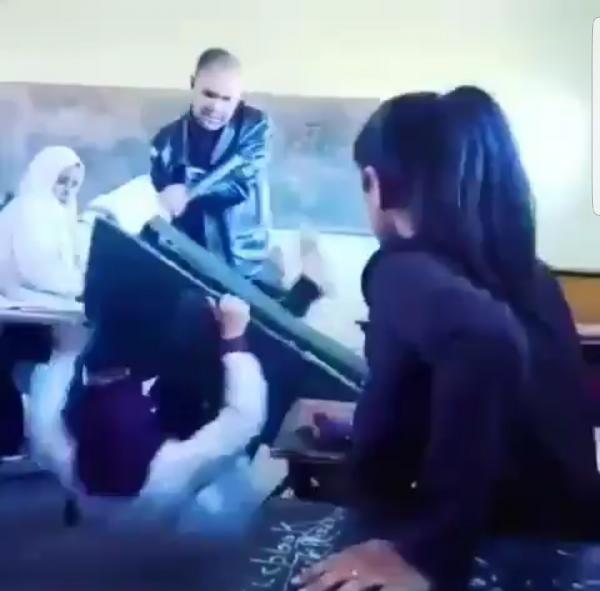 بلاغ من وزارة التعليم بخصوص فيديو تعنيف أستاذ لتلميذتين وهذه هي المؤسسة المعنية بالأمر