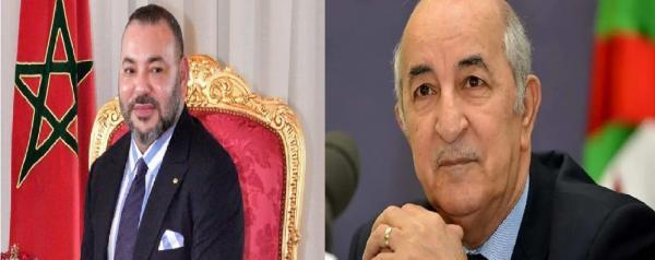 """الملك محمد السادس يبعث برسالة إلى """"عبدالمجيد تبون"""" بعد انتخابه رئيسا للجزائر"""