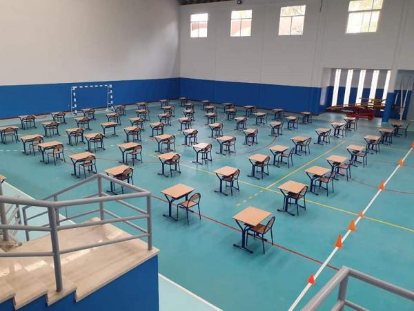 """بالصور: أكاديمية الرباط تجهز قاعات رياضية استعدادا لإمتحانات """"الباك"""""""