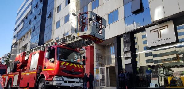 حريق بأحد مباني الدارالبيضاء بسبب مصعد كهربائي