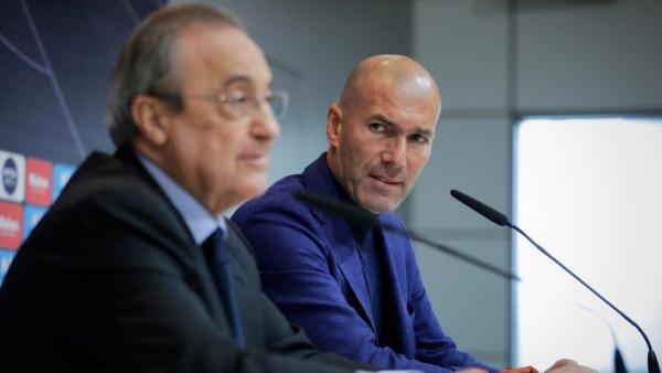 زيدان قد يغادر ريال مدريد وفلورينتينو يفاوض مدربا كبيرا