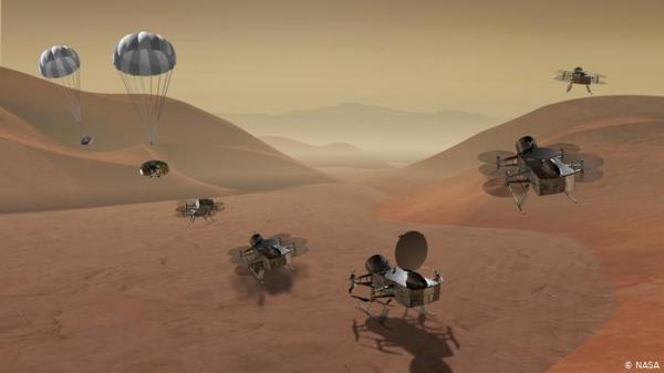 خريطة تيتان.. أسرار جيولوجية لقمر غامض
