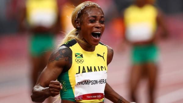 الجامايكية طومسون تسجل رقما قياسيا وتفوز بذهبية سباق 100 متر