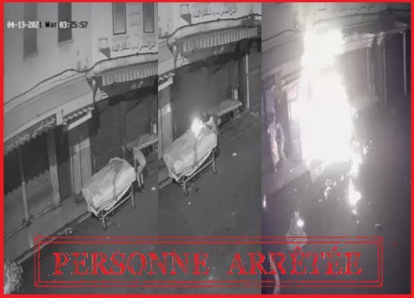 الأمن يعتقل مضرم النار في عربة للبضائع بالبيضاء