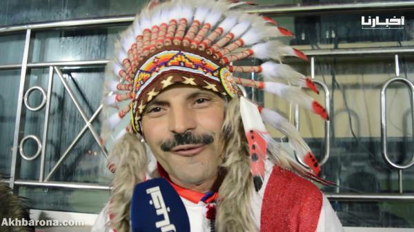 مشجع تطواني يكشف سر إرتدائه لأزياء الهنود الحمر