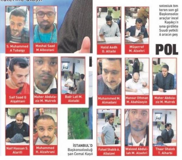 """هؤلاء هم المتهمون بقتل وتعذيب الكاتب السعودي """"خاشقجي"""" ومن هذين البلدين العربيين قدموا حسب مصادر تركية"""