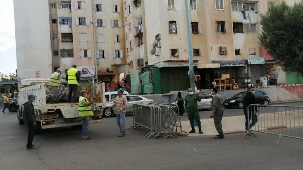 عاجل...السلطات المحلية بالدار البيضاء تغلق منطقة مشروع الحسن الثاني بالحي المحمدي