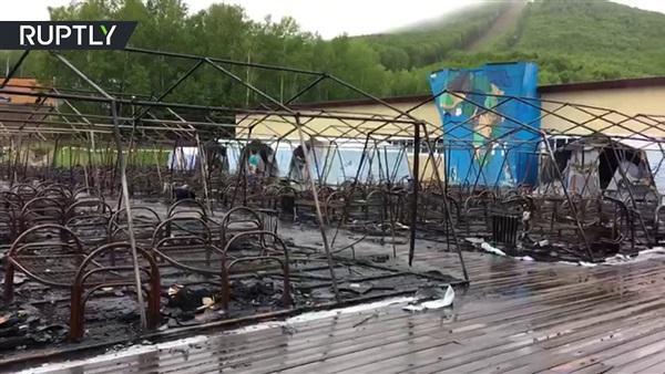 مصرع 3 أطفال وإصابة 10 آخرين في حريق بمخيم صيفي للأطفال شرق روسيا