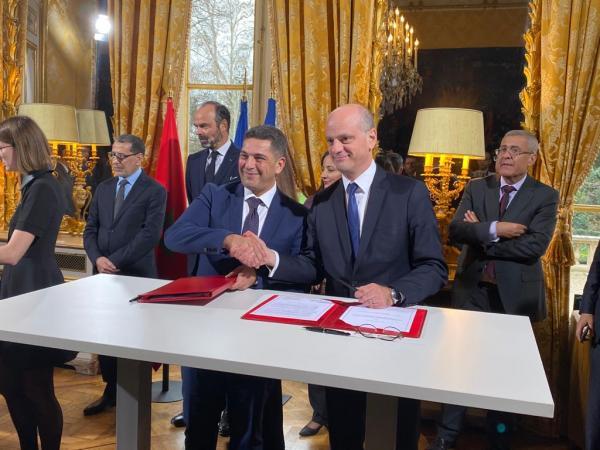 وزيري التعليم بالمغرب وفرنسا يوقعان على إعلان نوايا مشتركة