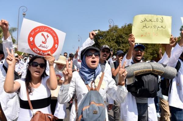 أساتذة التعاقد يصعدون ويمددون إضرابهم ردا على حملة الاعتقالات في صفوف المحتجين