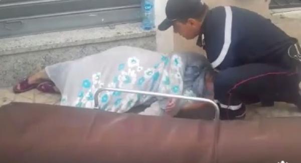 مصالح الأمن تتفاعل مع شريط فيديو يُظهر سيدة مغمى عليها بالشارع