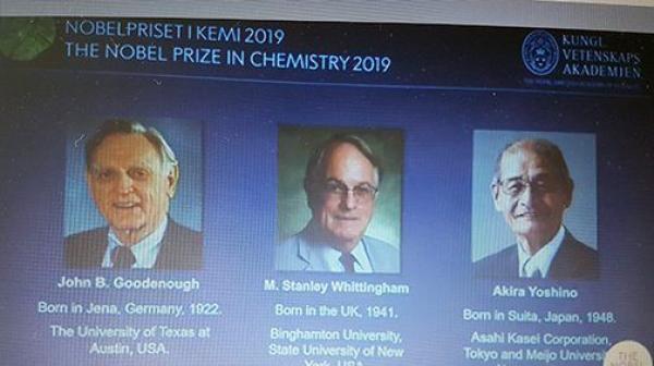 جائزة نوبل في الكيمياء 2019 من نصيب أمريكي وبريطاني وياباني
