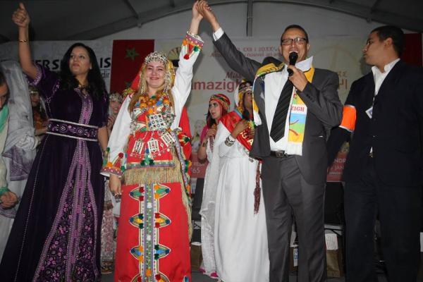 بالصور : لبنى الشماق تتوج بلقب ملكة جمال الأمازيغ 2016