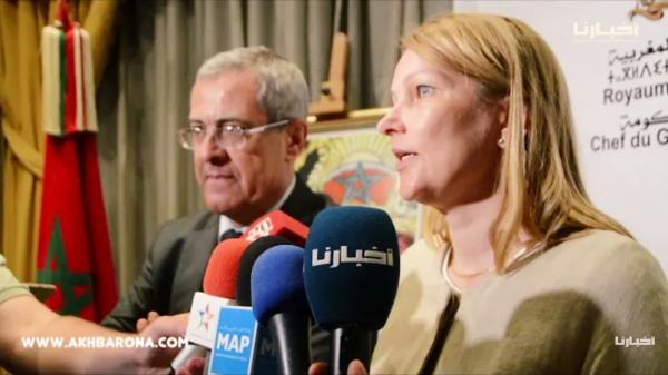 """بالفيديو : بن عبد القادر يبحث مع الأمينة العامة لـ """" OCDE """" سبل مكافحة الفساد وتعزيز النزاهة بالمغرب"""
