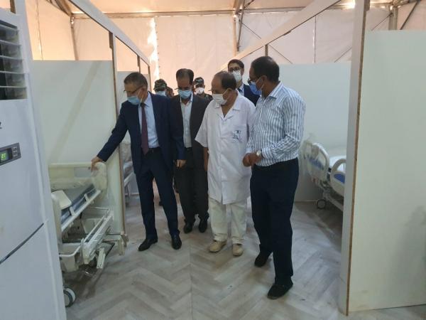 والي الجهة يتفقد تقدم أشغال بناء المستشفى الميداني ببني ملال وطاقته الاستعابية تصل إلى 100 سرير