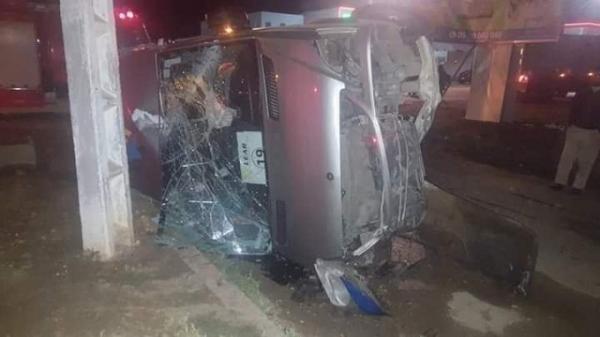حادثة سير خطيرة ضواحي القنيطرة والحصيلة ثقيلة(صور)