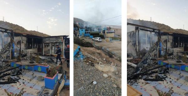 بالصور..حريق مهول يحول فضاءات مطعم شهير بأكادير إلى رماد