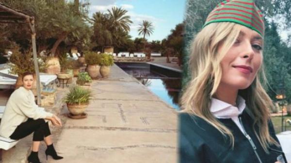 """بالصورة...نجمة التنس العالمي """"ماريا شارابوفا"""" تحل بالمغرب وهذه هي المدينة التي عشقتها"""