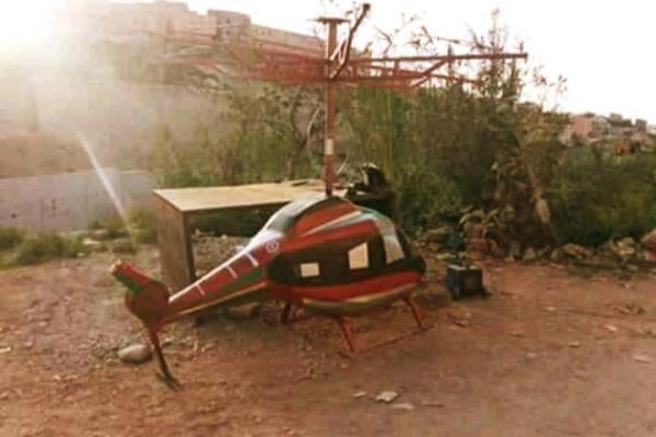 """صور جديدة لـ""""الهيليكوبتير"""" التي صنعها شاب مغربي ... فكيف سيكون مصيرها ؟"""