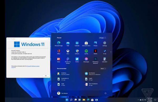 تسريب لقطات لشاشة نظام التشغيل ويندوز 11 الجديد
