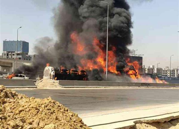 تفحّم 7 سيارات في حادث مروّع بمصر
