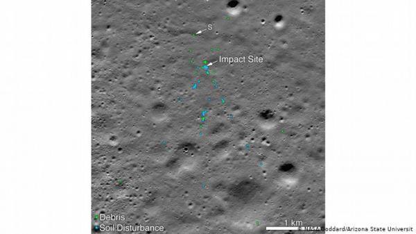 ناسا ترصد حطام مركبة هندية على سطح القمر