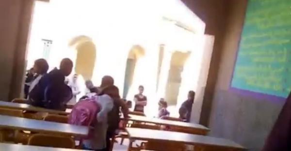 بالفيديو: أستاذة تفضح وضعية غريبة لفصل دراسي بمراكش